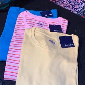 NWT 3 BASIC  EDITIONS ROUND NECK TEES